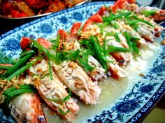 frozen wings: Chinese Style Steamed Prawns