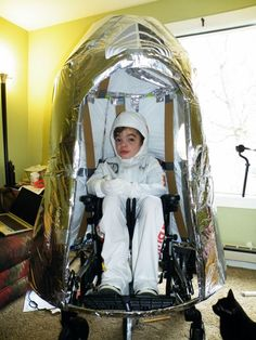 Logan as Felix Baumgartner, Give Kids The World's costume contest winner! (yes, he is wheelchair-bound)