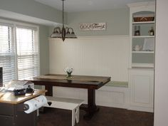 Remodelaholic | Kitchen Renovation With Built-in Banquette Seating