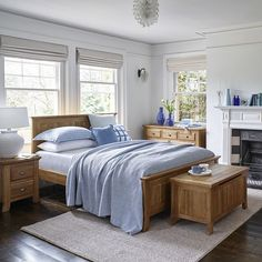 Not a fan of the pale pink or gorgeous green trend? Try out beautiful blue on your furniture instead! The shade works wonderfully on our Taunton range.  #bedroominspo #homeowners #bedroominterior #interior_design #bedroomdecor #homestyling