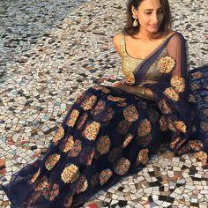 Grace yourself with this elegant beauty with blue net Saree To purchase this product mail us at houseof2@live.com or whatsapp us on +919833411702 for further detail #sari #saree #sarees #sareeday #sareelove #sequin #silver #traditional #ThePhotoDiary #traditionalwear #india #indian #instagood #indianwear #indooutfits #lacenet #fashion #fashion #fashionblogger #print #houseof2 #indianbride #indianwedding #indianfashion #bride #indianfashionblogger #indianstyle #indianfashion #banarasi… Buy Designer Sarees Online, Designer Silk Sarees, Art Silk Sarees, Banarasi Sarees, Crepe Saree, Chiffon Saree, Anushka Sharma, Priyanka Chopra, Indian Fashion