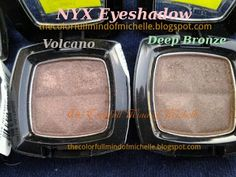 Mind of Michelle: NYX eyeshadow: browns and neutrals swatches
