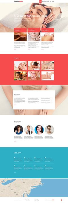 Template 52873 - Massage Spa Responsive Joomla Template with Gallery, Blog and Zoom Effects