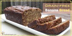 banana bread from coconut flour + honey. MUST TRY! I miss my banana bread. Gluten-free, dairy-free, grain-free