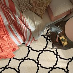 Carpet Essex Trellis 12 - TV239 - Black - Flooring by Shaw
