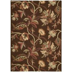 Nourison Crochet Chocolate 7 ft. 3 in. x 9 ft. 3 in. Wool Area Rug-122940 at The Home Depot  for LO - same pricing/sizes as other design