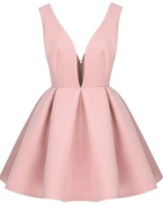Shop Pink Zippered V Neck Backless Midriff Heart Flare Dress online. SheIn offers Pink Zippered V Neck Backless Midriff Heart Flare Dress & more to fit your fashionable needs. Backless Cocktail Dress, V Neck Cocktail Dress, Backless Mini Dress, Long Sleeve Mini Dress, Short Sleeve Dresses, Backless Dresses, Cocktail Dresses, Dress Long, Flare Dress
