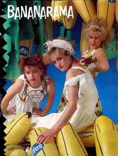 Bananarama formed in the London in late Comprising three best friends Keren Woodward Sarah Dallin and Siobhan Farley, the latter whom . 80s Musik, Good Music, My Music, Shakespears Sister, Nostalgia, Rock & Pop, Musica Pop, 80s Pop, 80s Kids