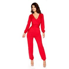 d9923b8c3b2 FrenchChimp Fashion Lady Long Sleeve V Neck Womens Jumpsuit Trouser Pants