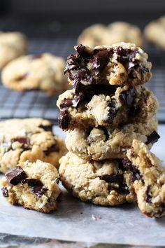 Dark Chocolate Chunk Coconut Cookies