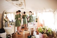 Gorgeous bride's changing room at Three Points Ranch, in a vintage airstream.