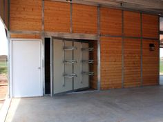 "Now this is a great idea for a barn, ""Pivoting tack room wall"""
