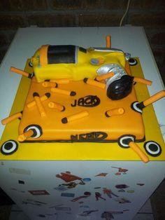 Nerf gun cake Nerf Gun Cake, Gun Cakes, Funny Birthday Cakes, Toys, Activity Toys, Clearance Toys, Gaming, Games, Toy