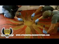 DIY Epoxy Floor w/ Logo Application. Basement Ideas For Small Basements. Basement Decorating Ideas And Projects Stained Concrete, Concrete Floors, Concrete Staining, Diy Concrete, Epoxy Floor Basement, Garage Flooring, Logo Application, Hudson Valley, Metallic Epoxy Floor