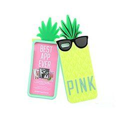 Mode ananas mignon coque tête de téléphone pour iPhone5 (jaune)