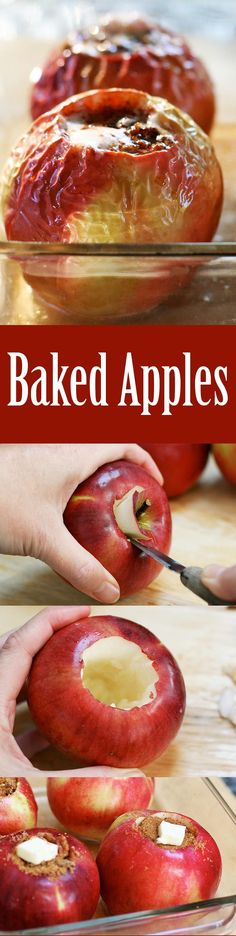 Classic baked apples! Filled with pecans, cinnamon, raisins, butter, and brown sugar.