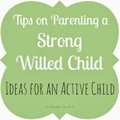 The Educators' Spin On It: Raising a Strong Willed Child: We Get It Series