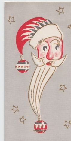 Vintage-Christmas-Mid-Century-Greeting-Card-Santa-Claus