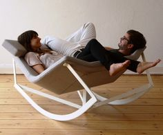 Astonishing Casual Scandinavian-Inspired Rocking Chair By Gervasoni : Terrific Rocking Chair By Gervasoni With Unique Shape