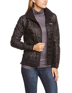 Patagonia Nano Puff Hybrid Jacket - Women's-Black-Large * Click affiliate link Amazon.com on image to review more details.