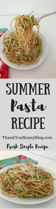 Summer Pasta Recipe fresh and delicious! Click through & PIN IT! Follow Us on Pinterest + Subscribe to ThankYouHoneyBlog{dot}com,   Recipe, Dinner, Main Dish, Pasta, Simple Meals, Clean Eating, Healthy, Summer, Healthy Meals, Supper, Pasta Night, Tutorial, ThankYouHoneyBlog.com, #barillaplus #barillaglutenfree {ad} @barillaus @walmart