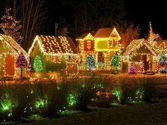 beautiful christmas lights on houses Christmas House Lights, Christmas Light Displays, Holiday Lights, Christmas Love, Beautiful Christmas, Christmas Lights, Merry Christmas, Christmas Ideas, Magical Christmas