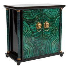 Art Deco Faux Malachite Cabinet