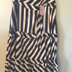 Black-and-white striped skirt Black and white striped skirt.   Cotton Skirts Midi