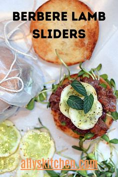 Berbere lamb sliders, an easy weeknight dinner or lunch recipe, can be made ahead of time with the lamb shank seasoned with Ethiopian spice mixture! #easylamb #lambrecipe