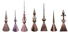 Copper Finials, Roof Finials, Copper Spires, and Turret Finials