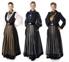 """""""Jubileumsdrakta"""" - one of the bunad styles from Oslo - I like the one with the blue shirt."""