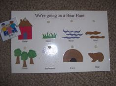 """Circle Time interactive poster for """"We're Going on a Bear Hunt"""" available at Making Learning Fun."""