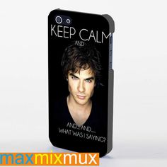 Keep Calm - The Vampire Diaries Tv Show (Damon Salvatore) iPhone 4/4S, 5/5S, 5C Series Full Wrap Case