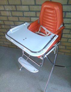 Nice one Vintage High Chairs, Baby Equipment, Play Yard, Playpen, Prams, Ol Days, Good Ol, Folding Chair, Baby Gear