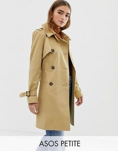 Buy ASOS DESIGN Petite trench coat at ASOS. With free delivery and return options (Ts&Cs apply), online shopping has never been so easy. Get the latest trends with ASOS now. Petite Jeans, Petite Tops, Asos Petite, Petite Trench Coat, Trench Coat Style, Coats For Women, Jackets For Women, Safari, Jackets