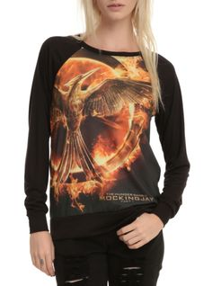 The Hunger Games: Mockingjay Logo Girls Pullover Top | Hot Topic I HAVE THIS SHIRT GO BUY IT IF YOU DON'T ALREADY HAVE IT