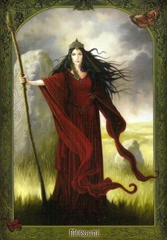 La Fée Morgane, reine d'Avalon, l'île aux Pommes de l'autre monde, porte une branche de pommier, symbole celtique de la paix et de l'abondance ZeroGluten VégéBrest