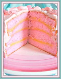 """Pink Champagne Cake: """"Mmm...mmm....good! Used this recipe for cup cakes at a baby shower. They were a huge hit!"""" Chef Pacheco"""