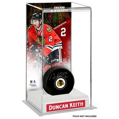 Duncan Keith Chicago Blackhawks Fanatics Authentic Deluxe Tall Hockey Puck Case - $49.99