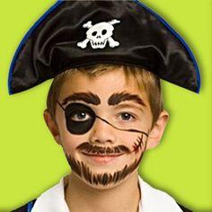 Maquillage Pirate. Décoration festive  Vegaoo Party, produits pour fêtes  noel, nouvel an