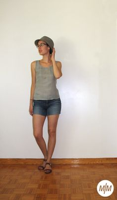 Renfrew #2     Made by Marion The Row, Bermuda Shorts, Pattern, Handmade, Shirts, Women, Fashion, Moda, Hand Made