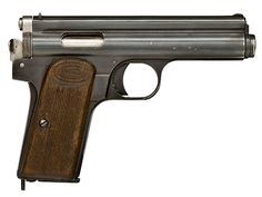 The Frommer Stop is a Hungarian long-recoil pistol manufactured by Fémáru-, Fegyver és Gépgyár (FÉG) [Metalware, Weapons and Machine Factory] in Budapest. It was designed by Rudolf Frommer, and its original design was adopted as the Pisztoly 12M in 1912, created for the Honvédség. The handgun was manufactured in various forms from 1912-1945 and used in the Hungarian Armed Forces. 7 rounds detachable mag. Cal . 7.65 ( 32ACP) or 9 short (380 ACP).