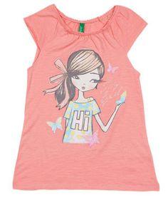 2303eb98b7a UCB Short Sleeve Peach Solid Top For Kids. Kids OnlineHot PinkLittle GirlsPeachToddler  ...