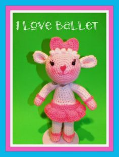 Lambie from Doc McStuffins Cartoons - Free Amigurumi Pattern (scroll Down below Doc McStuffins Doll) here: http://spotconnie.blogspot.com.es/2015/01/doc-mcstuffins-and-lambie-inspired-free.html