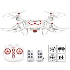 Syma X5UC RC Quadcopter Drone 24G 4 Channel 6Axis Gyro With 2MP HD Camera Barometer Set Height ** Want additional info? Click on the image-affiliate link.