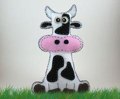 Stuffed Cow PATTERN - Sew by Hand Plush Felt Stuffed Animal PDF - Easy to Make via Etsy