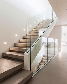 Modern Staircase Design Ideas - Modern stairs can be found in lots of styles and designs that can be real eye-catcher in the various location. We've assembled best 10 modern models of stairways that can give. Home Stairs Design, Interior Stairs, Modern House Design, Home Interior Design, Interior Architecture, Room Interior, Staircase Design Modern, Staircase Glass Design, Hall Room Design