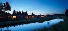 Center parc Bois des Harcholins, France, Jean de Gastines Architectes Cabin, France, Mansions, House Styles, Home Decor, Architects, Decoration Home, Manor Houses, Room Decor