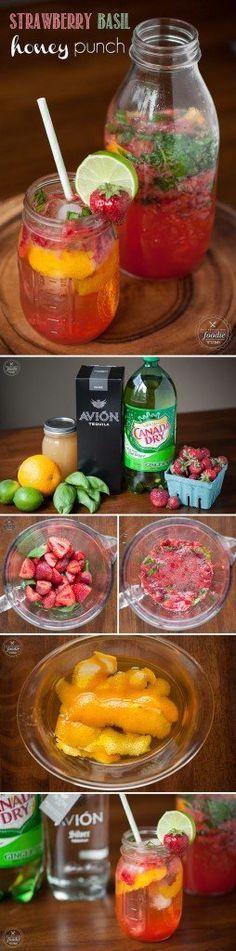 Host the perfect micro-occasion for any summer day or night with this delicious Strawberry Basil Honey Punch made with silver tequila and ginger ale.