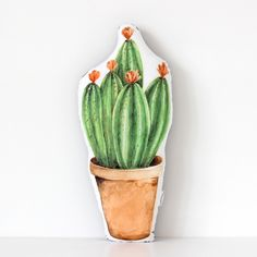 Cactus Cushion Little Pink Flowers £20.00